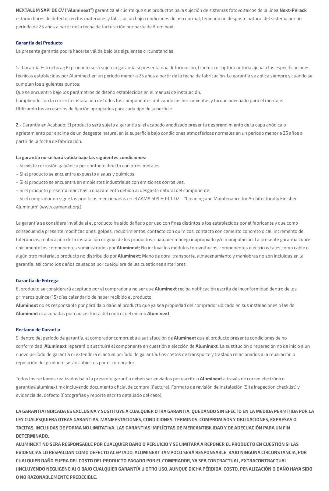 garantia-aluminext new